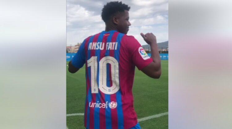 VIDEO FC Barcelona a atribuit unui alt jucător, Ansu Fati, emblematicul număr 10 purtat de Lionel Messi