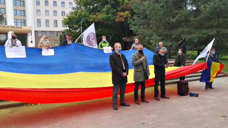 """VIDEO """"Stop cumătrismul PAS"""". Protestul PUN în fața Parlamentului! Țîcu: """"Uitați-vă ce se întâmplă…"""""""