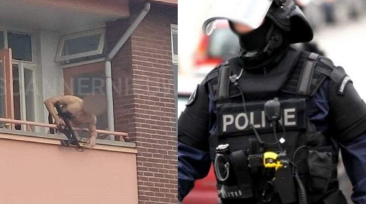 VIDEO Groaznic! Un bărbat a scos arma și a început să tragă de la balcon în oameni. Doi morți și o persoană rănită