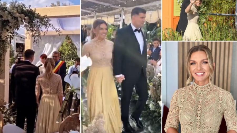 """VIDEO Oficial, soț și soție: Simona Halep a spus """"DA""""! Primele imagini de la nunta sportivei"""