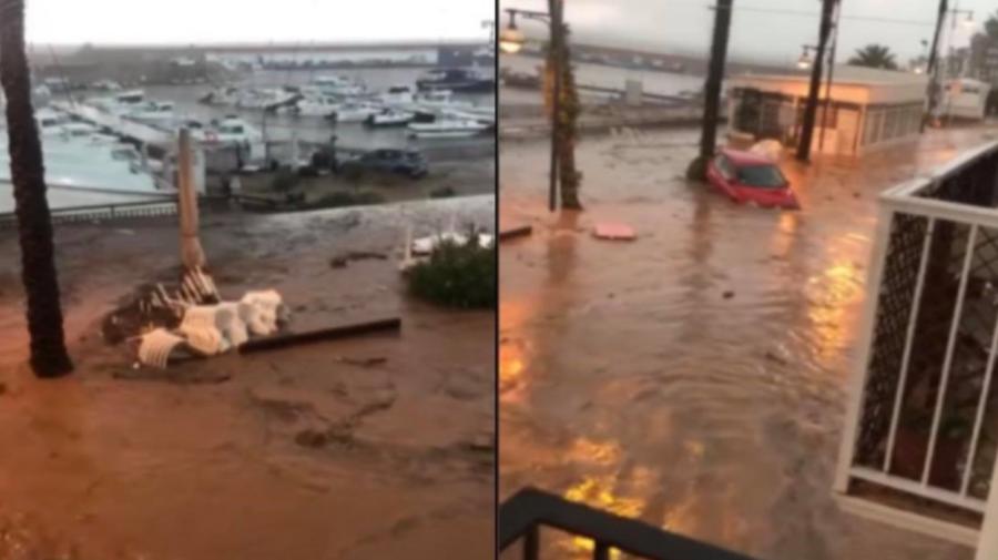 VIDEO Inundații masive în Spania după câteva ore de ploi torențiale: Principalele drumuri au fost blocate