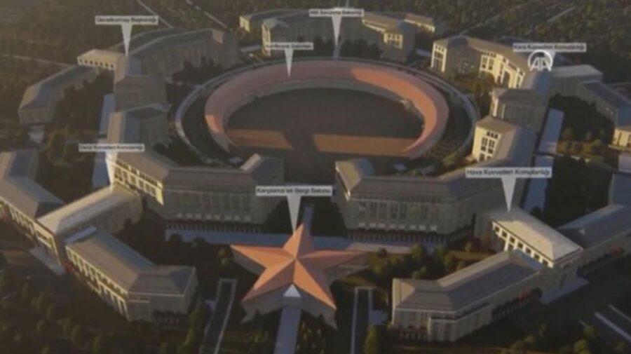 """VIDEO Turcia îşi construieşte propriul Pentagon. """"Le va inspira teamă inamicilor noştri"""""""