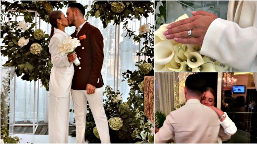 FOTO, VIDEO Gabriela Damir s-a măritat cu Roman Burlaca: Surprize, lacrimi și primul dans al proaspeților soți!