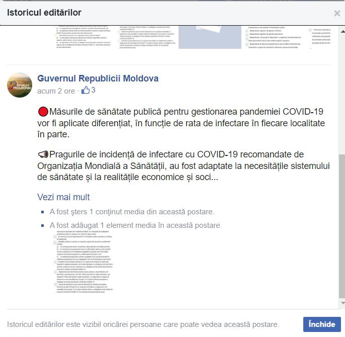 DOC// Gafa verișoarei? Guvernul PAS induce în eroare cu privire la măsurile de prevenire și control ale infecției COVID-19