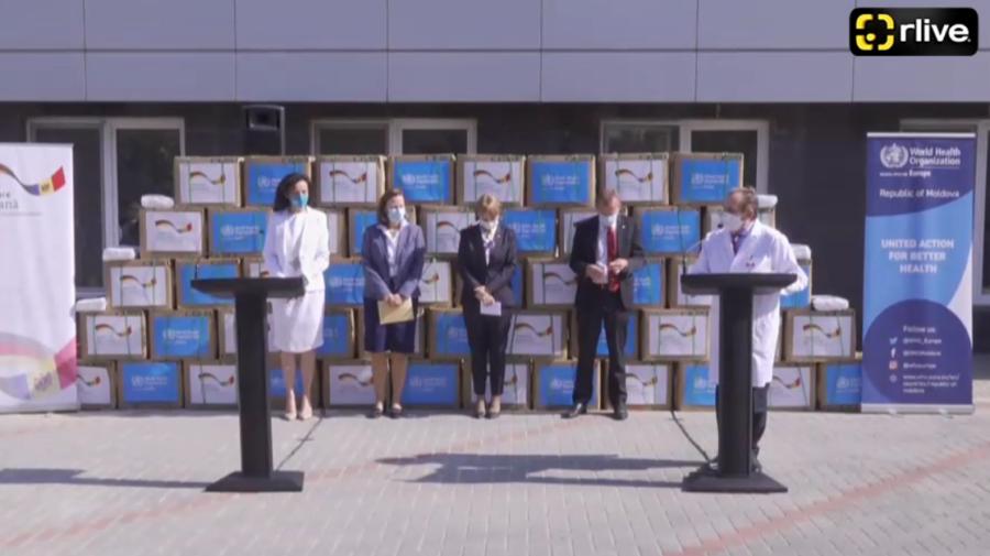 VIDEO Moldova a primit un lot impunător cu măști de protecție! Ajutorul umanitar, donat de statul german