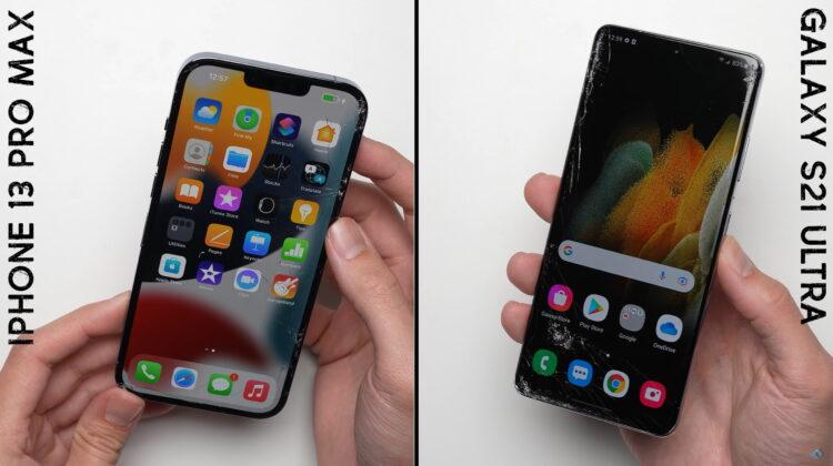 VIDEO Ce se întâmplă dacă scapi din mână un iPhone 13 Pro Max