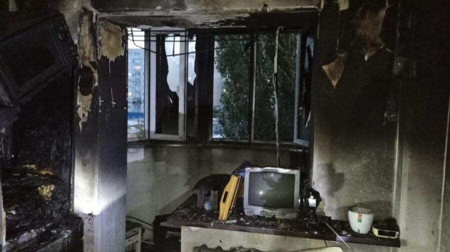 FOTO Patru persoane, la un pas de a se intoxica cu fum! Pompierii au intervenit aseară la lichidarea unui incendiu