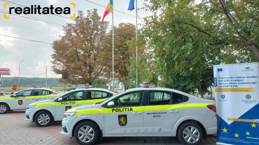 FOTO Sărbătoare pentru polițiștii de la Ialoveni! Instituția are trei automobile noi. Ce altceva a mai primit?