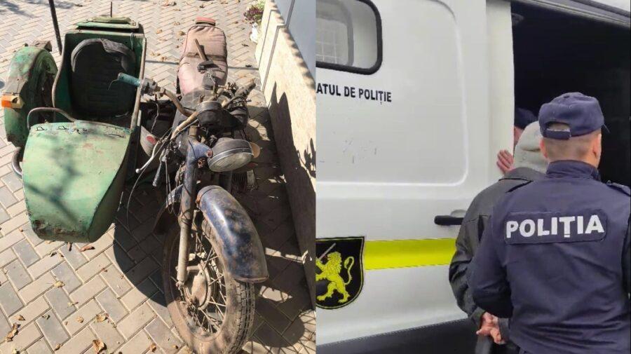 FOTO A furat câteva motociclete, iar ulterior a fost încătușat de poliție. Riscă pușcărie