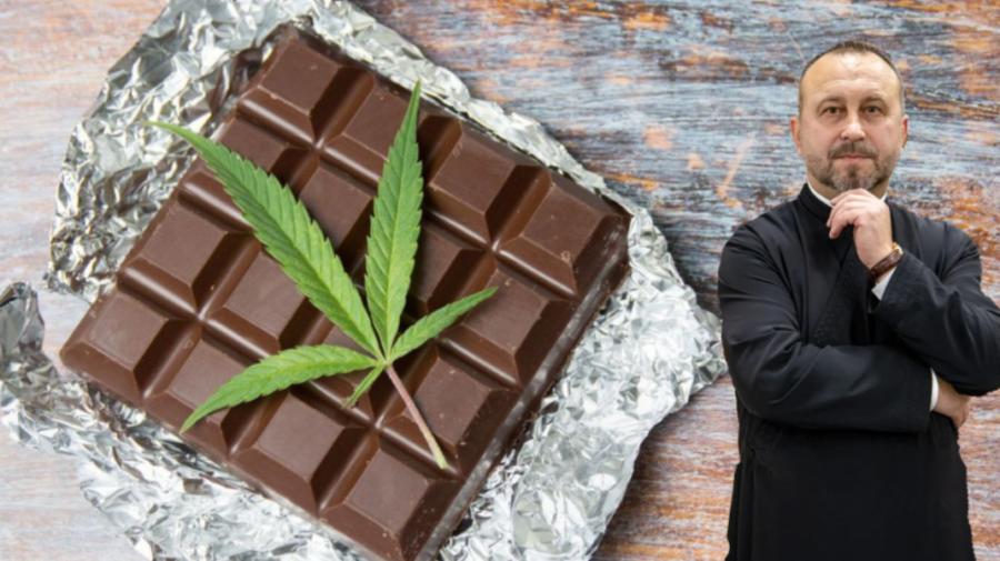Lângă icoane, ciocolată cu cannabis… Cazul unui preot care încearcă o astfel de afacere