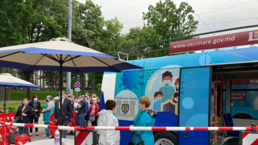 Vaccinează-te în weekend! Un troleibuz staționează la Piața Ceucari, iar autobuzul se află la Piața Centrală