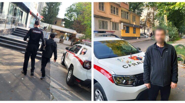 FOTO Individ din Capitală, escortat la inspectorat. Avea în buzunar pachețele cu substanțe interzise