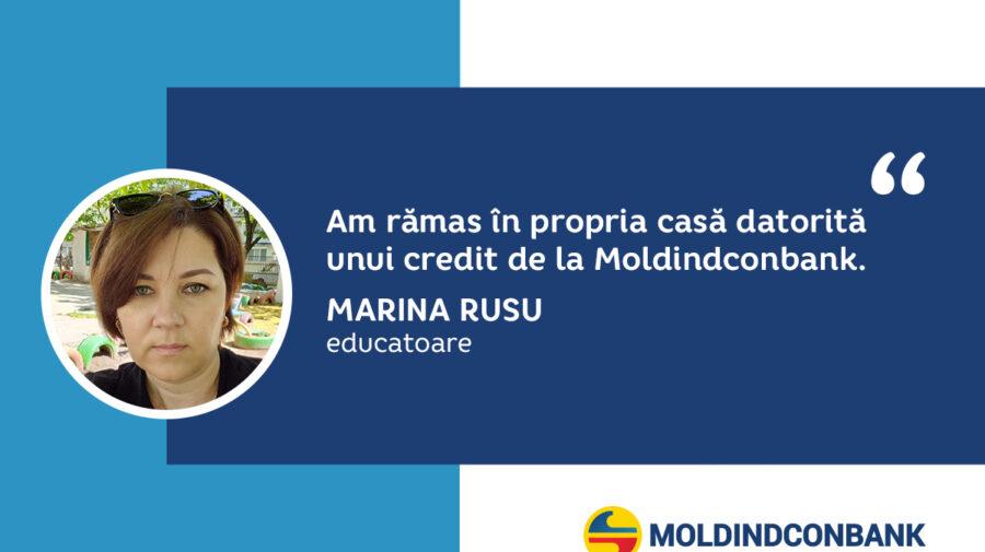 O mamă cu doi copii a rămas în propria casă datorită unui credit de la Moldindconbank