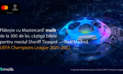Achită cu cardul Mastercard de la maib și câștigă bilete la meciul Sheriff Tiraspol – Real Madrid