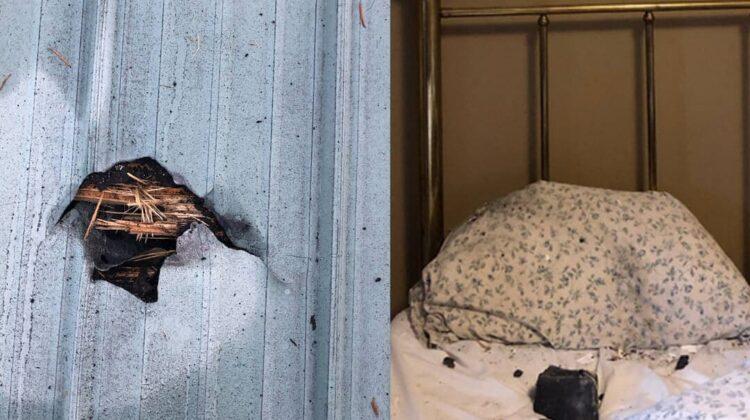 FOTO A scăpat ca prin minune! O locuitoare din Canada a fost trezită de un meteorit care a căzut exact pe perna sa