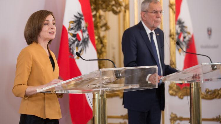 Maia Sandu – la sfat cu preşedintele Austriei, despre securitatea energetică și protecția mediului