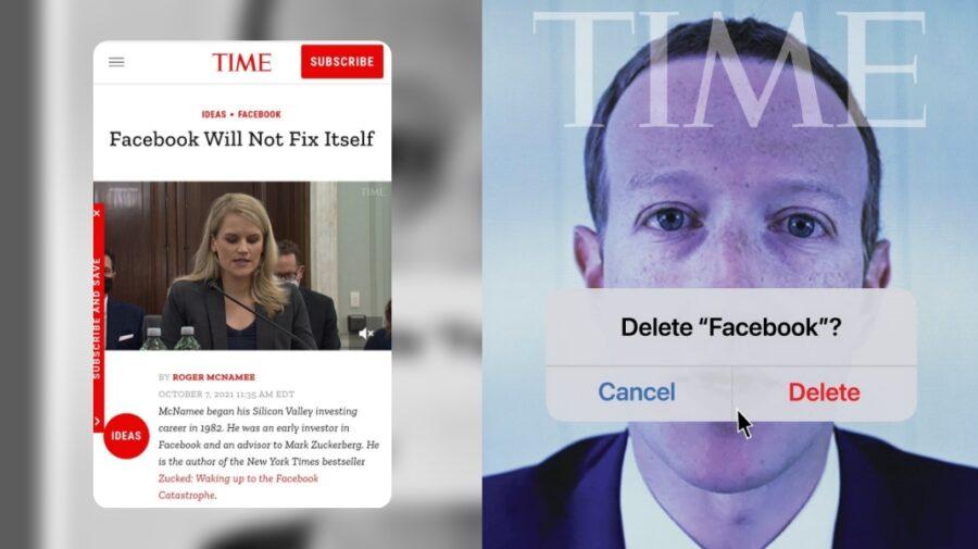 """Revoltă mare! Zuckerberg apare pe o copertă având pe gură """"șterge Facebook"""". Compania este învinuită de interese!"""