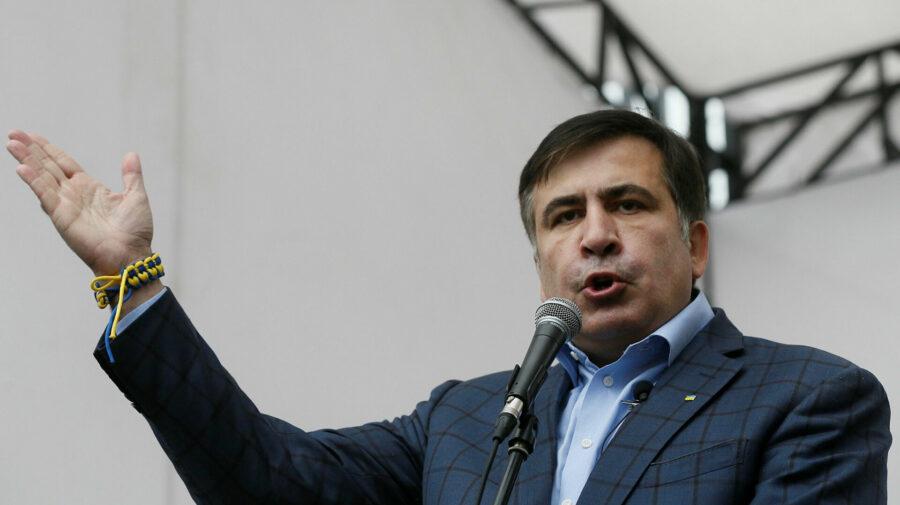 """FOTO Din pușcărie, """"cu drag"""" pentru popor. Saakașvili: Am știut că probabil voi fi arestat. Mergeți la vot"""