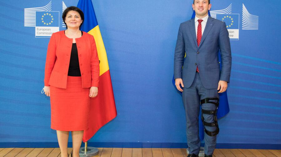 """Întrevederi fără număr! Gavrilița """"a luat"""" cu asalt oficialii de la Bruxelles"""