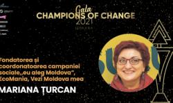 """Champions of change I Mariana Țurcan: """"Campania s-a născut de la conceptul de a alege… în viață toți avem o alegere"""""""